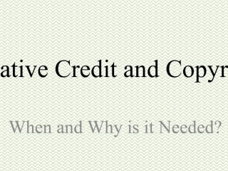 Creative Credit and Copyright